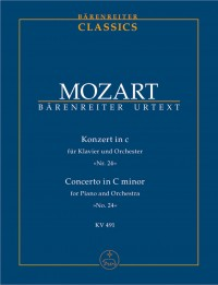 Mozart, WA: Concerto for Piano No.24 in C minor (K.491) (Urtext)
