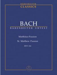 Bach, JS: Saint Matthew Passion (BWV 244) (Urtext) (G-E)