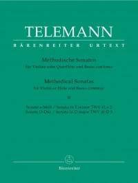 Telemann: Methodical Sonatas for Flute or Violin and Basso continuo (Urtext)