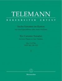 Telemann, G: Sonatas in Canon (6), Op.5, Vol. 1 (in G TWV 40: 118&#x3B; in G minor TWV 40: 119&#x3B; in D TWV 40: 120) (Urtext)