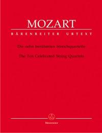 Mozart, WA: String Quartets (10 Celebrated). (K.387, 421, 428, 458, 464, 465, 499, 575, 589, 590) (Urtext)