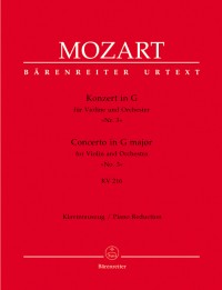 Mozart, WA: Concerto for Violin No.3 in G (K.216) (Urtext)