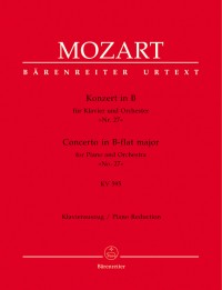 Mozart, WA: Concerto for Piano No.27 in B-flat (K.595) (Urtext)