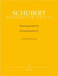 Schubert, F: String Quartets, Vol. 2 (D.18, 32, 36, 68) (Urtext)