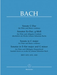 Bach, JS: Sonatas (3) (BWV 1033 C maj&#x3B; BWV 1031 E-flat maj&#x3B; BWV 1020 G min.) (Urtext)
