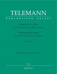 Telemann, G: Concerto for Viola in G (TWV 51: G9) (Urtext)