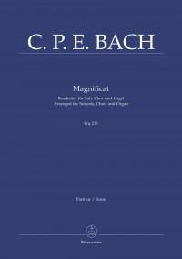 Bach, CPE: Magnificat (Wq 215) (Version for Choir & Organ) (L) (Series: Choir & Organ)