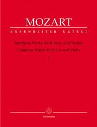 Mozart, WA: Complete Works Vol.1 for Violin and Piano (Sonatas K.6-9, 26-31, 301-306, 296, 378) (Urtext)