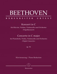 "Beethoven, L: Concerto for Pianoforte, Violin, Violoncello and Orchestra C major op. 56 ""Triple Concerto"" (Urtext)"