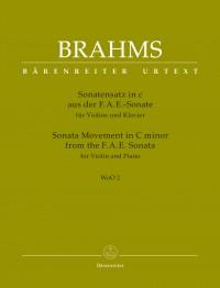 Brahms, Johannes: Sonata Movement for Violin and Piano C minor WoO 2