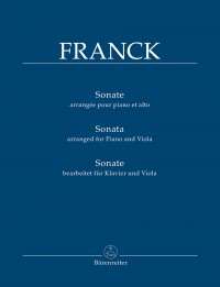 Franck, César: Sonata, arranged for Piano and Viola