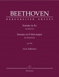 "Beethoven: Piano Sonata in E-flat major op. 81a ""Les Adieux"""