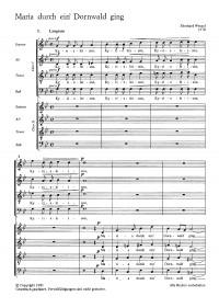 Wenzel: Maria durch ein Dornwald ging (Op.57)