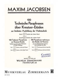 Jacobsen, M: 100 Technical Paraphrases On Kreutzer-etudes Band Ii Heft 1a