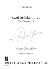 Juon, P: Two Pieces op. 25