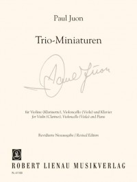 Juon, P: Trio Miniatures