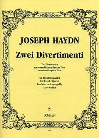 Haydn, J: Divertimento I F-Dur, II F-Dur
