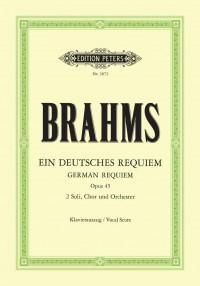 Brahms: Ein deutsches Requiem op. 45 (Vocal Score in German)
