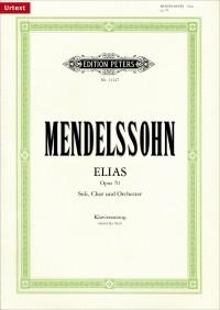 Mendelssohn: Elias op. 70 (Vocal Score in German)