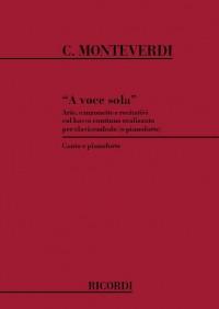Monteverdi: A Voce sola