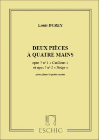 Louis Durey: Deux Pieces A Quatre Mains