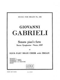Giovanni Gabrieli: Sonata Pian'e forte (Score/Parts)