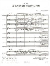 Pierre Villette: O Sacrum Convivium Op.27