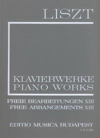 Liszt: Free Arrangements XIII (paperback)