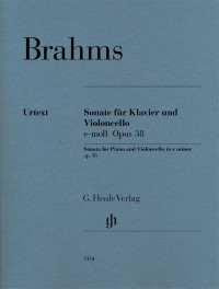 Brahms, J: Sonata for Piano and Violoncello op. 38
