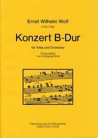 Wolf, E W: Concerto for Viola and Orchestra
