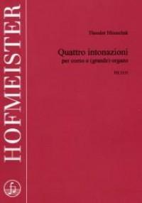 Theodor Hlouschek: Quattro intonazioni per corno e (grande) Organo
