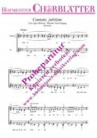 Horst Irrgang: Cantate, jubilate