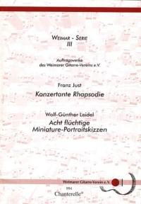 Konzertante Rhapsodie / Acht flüchtige Miniature-Portraitskizzen