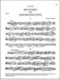 Vaughan Williams: Six Studies in English Folk Song. Cello part