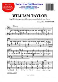 Webb: William Taylor