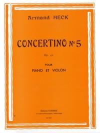 Armand Heck: Concertino n°5 en sol maj. Op.42