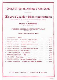 Henri Lammers: Oeuvres vocales et instrumentales