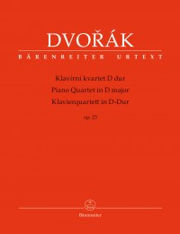 Dvorák, Antonín: Piano Quartet in D major op. 23