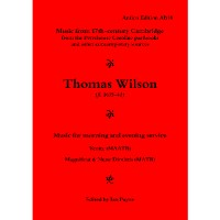 Thomas Wilson: Music for Morning and Evening Service