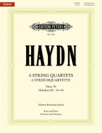 Haydn: The 6 String Quartets Op.50 (Full Score & Parts)