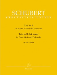 Schubert, F: Piano Trio in B-flat, Op.99 (D.898) (Urtext)