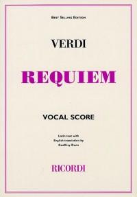 Giuseppe Verdi: Requiem (Ricordi Edition) - Vocal Score