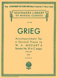 Edvard Grieg: Accompaniment For Second Piano To Mozart Sonata K.545
