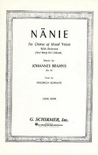 Johannes Brahms: Nanie Op.82 (Vocal Score)