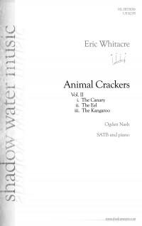 Eric Whitacre: Animal Crackers II