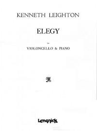 Kenneth Leighton: Elegy