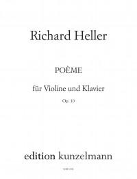 Heller, Richard: Poème für Violine und Klavier  op. 10