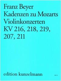 Beyer, Franz: Kadenzen zu Mozarts Violinkonzerten  KV 207, 211, 216, 218, 219,