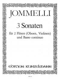 Jommelli, Niccolò: 3 Sonaten D-Dur/G-Dur/C-Dur