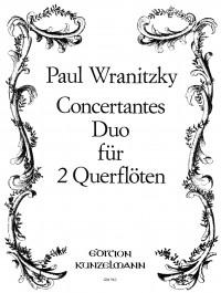 Wranitzky, Paul: Concertantes Duo für 2 Flöten  op. 33/2
